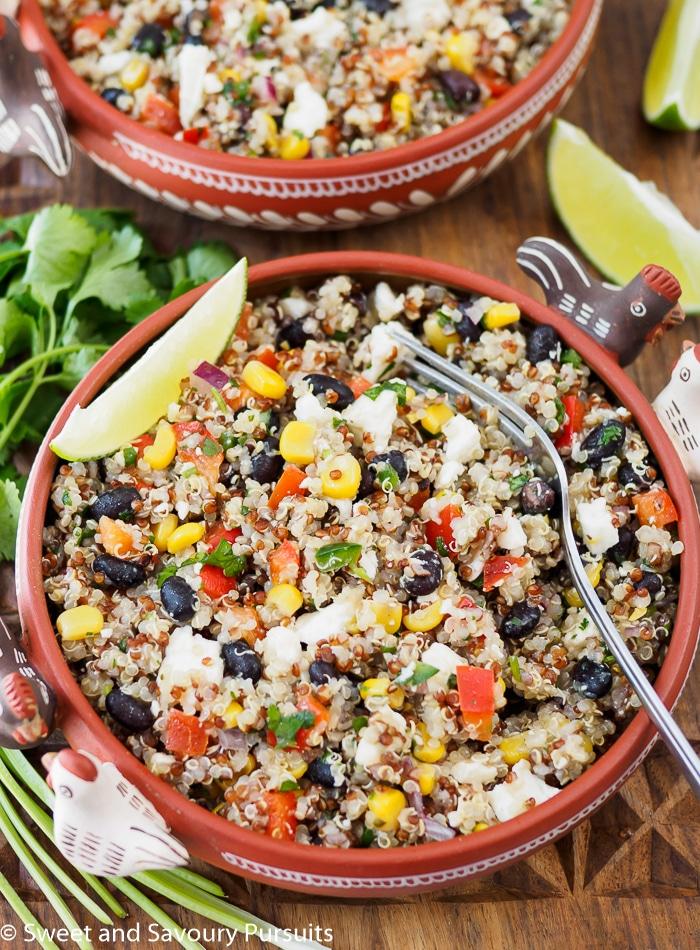 Bowl of quinoa salad.