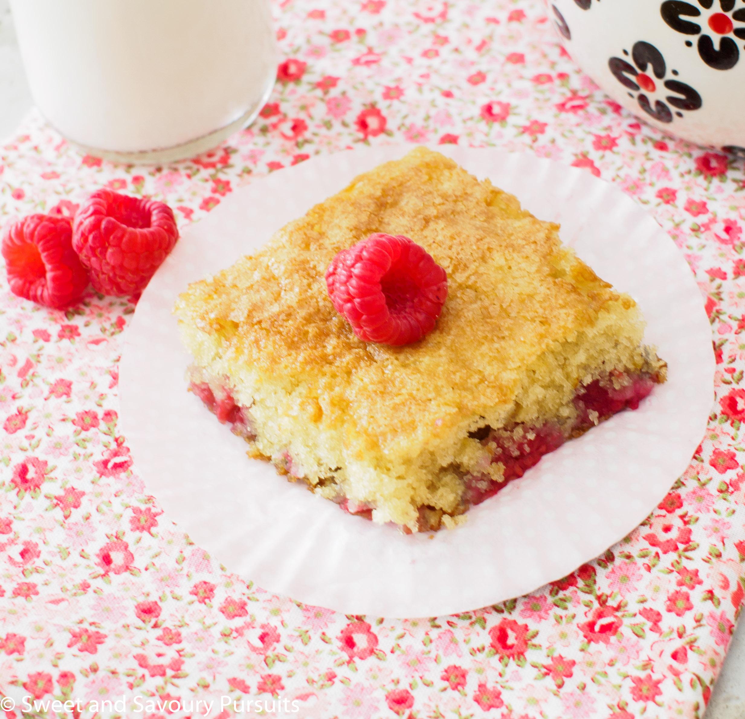 Slice of Raspberry Buttermilk Cake