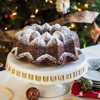 Espresso Gingerbread Bundt Cake