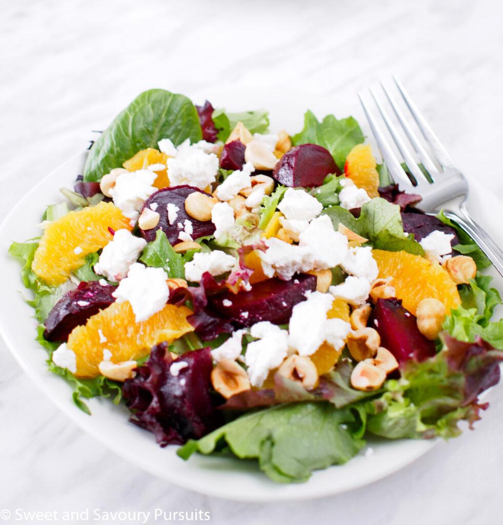 Roasted Beet and Orange Salad with Citrus Vinaigrette.