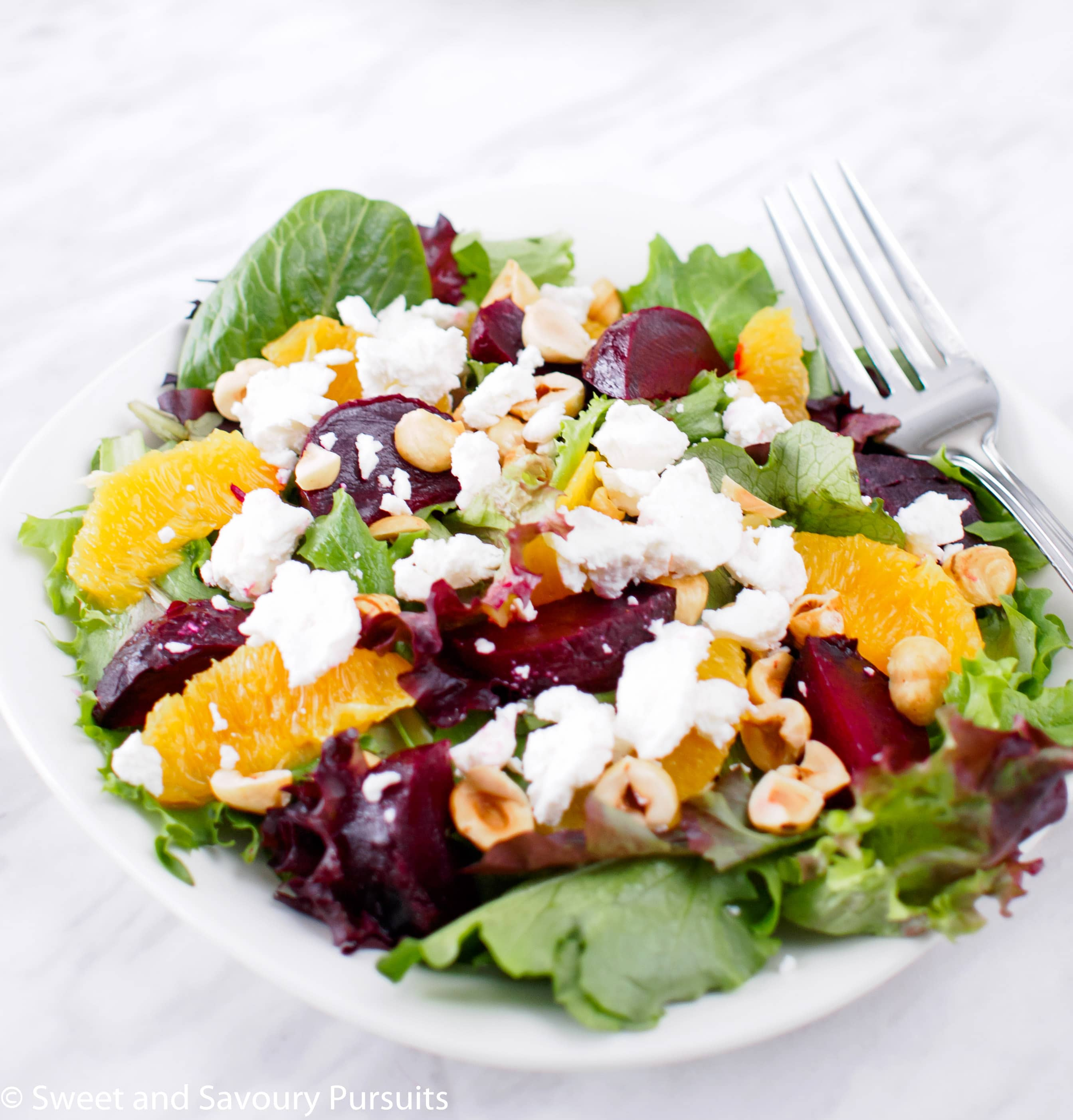 Roasted Beet and Orange Salad with Citrus Vinaigrette - Sweet and ...