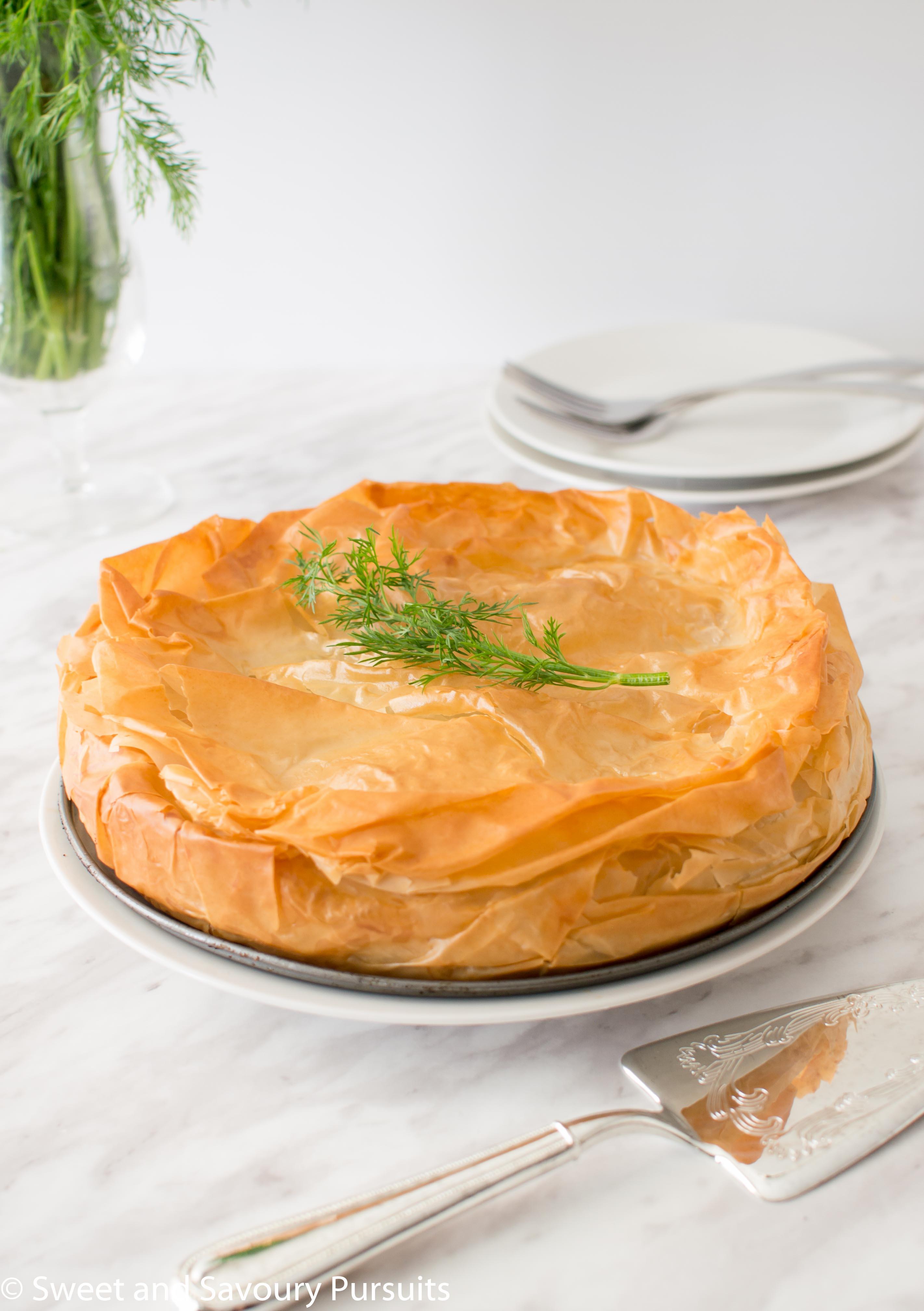 One large Spanakopita pie.