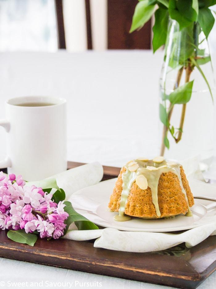 Mini Almond and Matcha Bundt Cakes.
