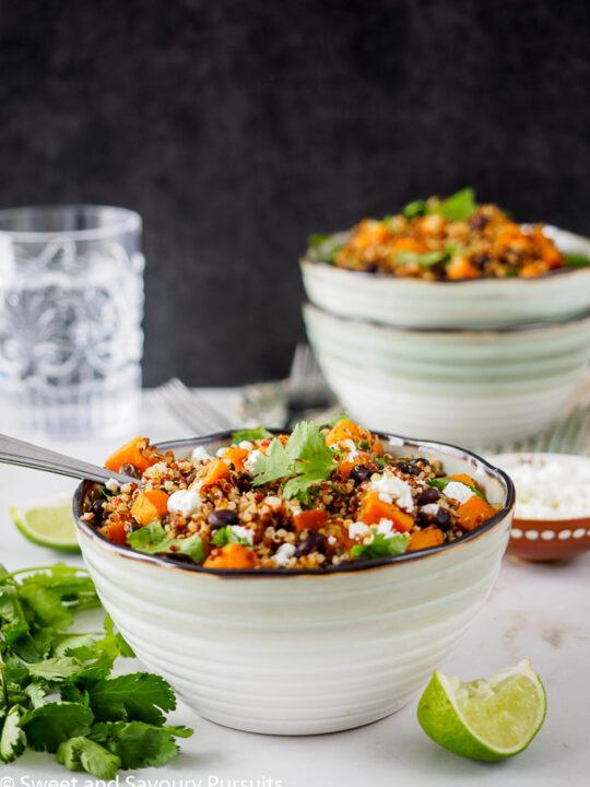 Sweet Potato and Black Bean Quinoa bowl.