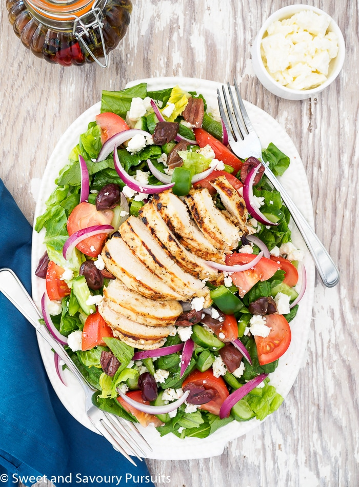 Greek Salad With Grilled Chicken Sweet And Savoury Pursuits