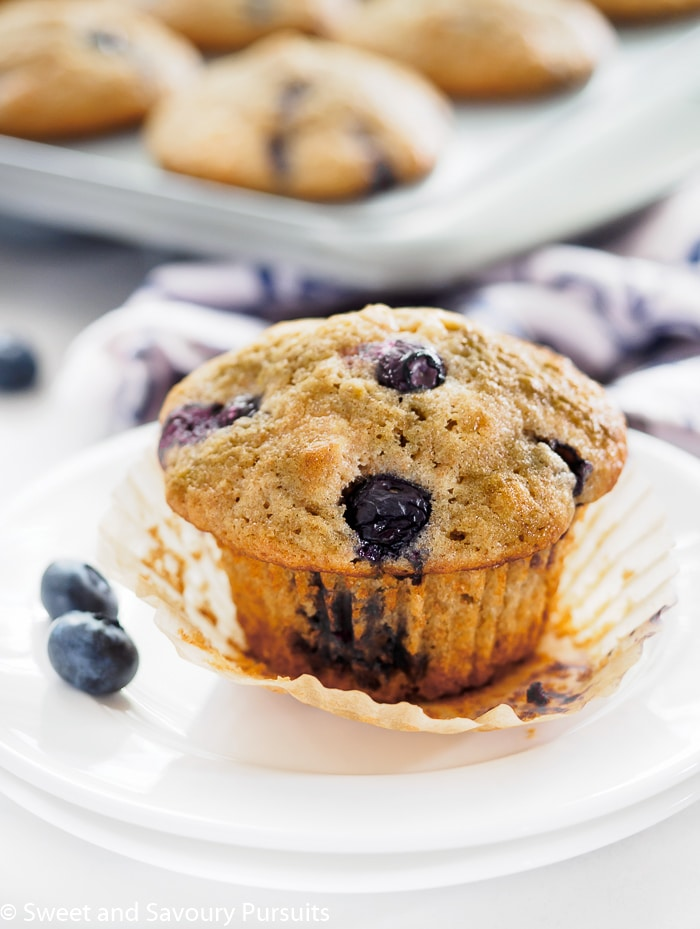 Lemon Blueberry Muffin on small plate