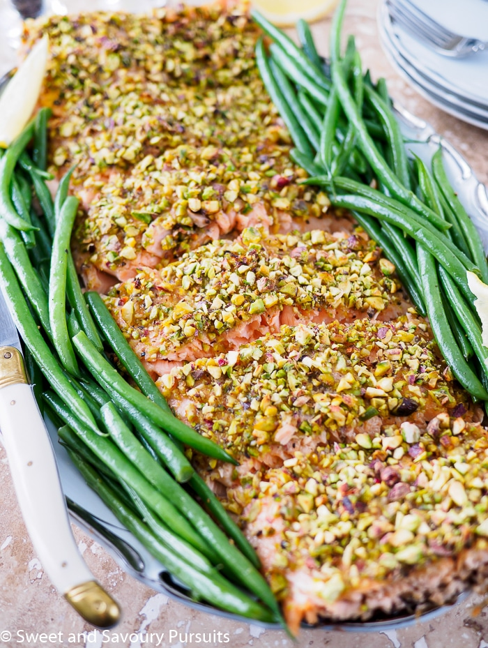 Pistachio crusted salmon sweet and savoury pursuits for Pistachio crusted fish