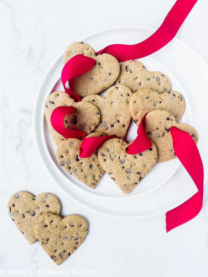 Healthier heart-shaped sugar cookies.