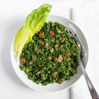 Plate of Tabbouleh.
