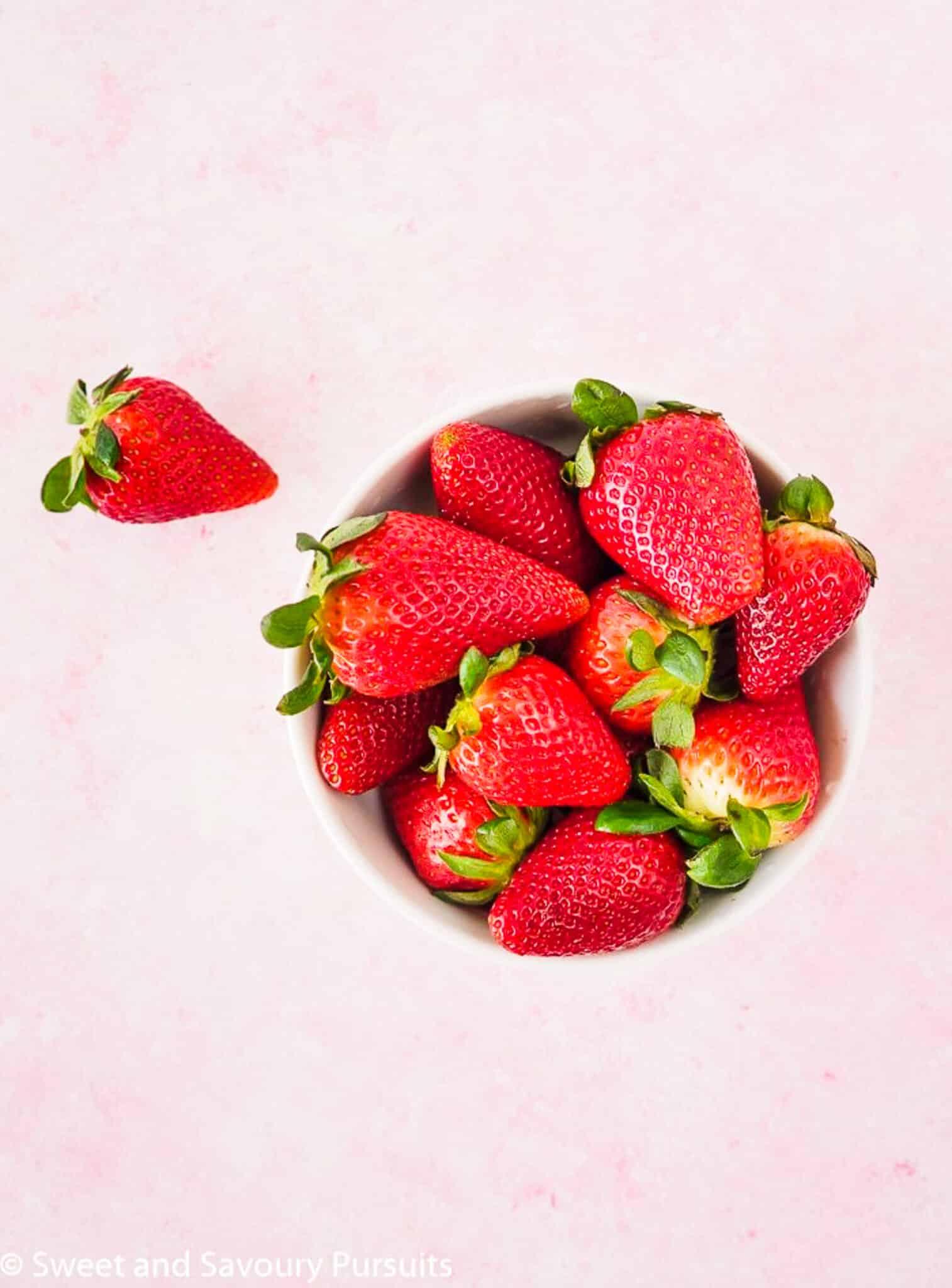 Bowl of Fresh Strawberries.